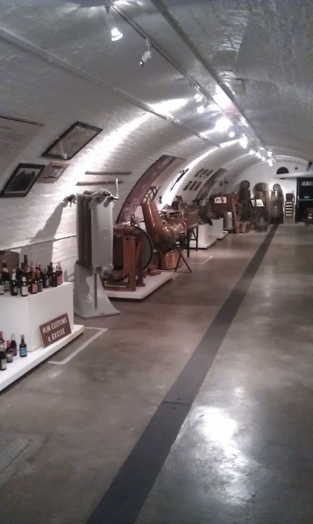 The Hock Cellar is a treasure trove of brewery artifacts and has its own bar.